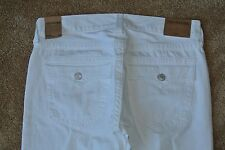 TRUE RELIGION RICKY RELAXED STRAIGHT Jeans 34X33 NWT$329 RARE WHITE-TR POCKETS