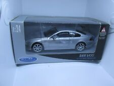 WELLY 1/24 SCALE BOXED MODEL BMW 645 Ci SILVER