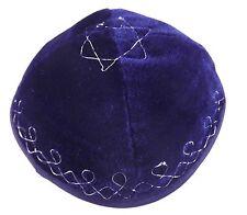 Blue Velvet Star Of David Yarmulke Kippah Jewish Kippa Cupples Cap 20 cm