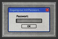 """Fußmatte """"Zugang nur mit Passwort"""" *nerd*gamer*computer*punk*türmatte*teppich*"""