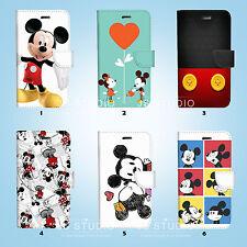 Mickey Mouse Flip Wallet Case Cover for Sony Xperia Z2 Z3 Z5 LG G5 049