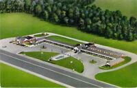 Belco Motor Court & Restaurant Emporia VA Aerial Hwy. 301 Chrome Postcard