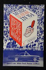 1964 CLEVELAND INDIANS SCORE CARD PROGRAM vs MINNESOTA TWINS