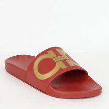 New Salvatore Ferragamo Men's Groove Red Rubber Sandal 654658