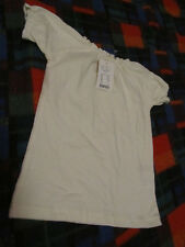 Noa Noa Girls Cream Stretch Cotton Short Sleeve Top - 5 - 6 years - NWT