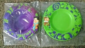 McDonald's 1997 Cartoon Network Fred Flintstones Bowl & Yogi Bear Plate Vintage