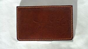 Tony Perotti 20305 Cognac Leather Metal Card Case