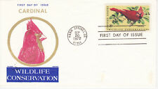 POSTAL HISTORY - FIRST DAY COVER FDC 1972 WILDLIFE CONS. CARDINAL JACKSON CACHET