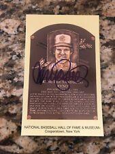 Ryne Sandberg Chicago Cubs signed autographed baseball card HOF plaque postcard