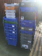 More details for 60 x slightly damaged heavy duty plastic storage tote boxes crates  stackable