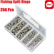 Stainless Steel 200pcs Fishing lures Split Rings For Fish Swivel Snap Connector