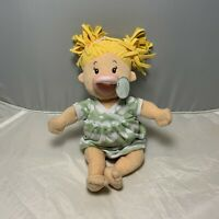 Manhattan Toy Co. Plush Baby Girl Stella Doll Blonde Stuffed Toy Soft Pacifier