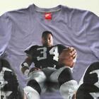 Nike Bo Jackson All Over XL Shirt Los Angeles Raiders Football Oakland Knows
