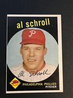 F62938  1959 Topps #546 Al Schroll PHILLIES