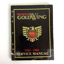 Honda Goldwing Gold Wing Motorcycle Service Manual 1984 - 1986 GL1200