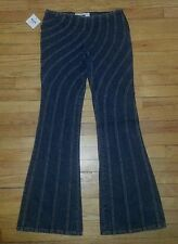 Dk Blue Wavy Stitching NWT Sz 8 30x34 MOSCHINO JEANS DONNA Designer Jeans p2607