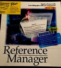 Ris Reference Manager Professional Win 95 Citations Bibliographies + More