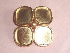 Broche  Yves Saint Laurent géométrique en alliage doré