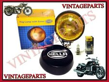 Hella Round Fog Lamp Yellow Glass + Cover With H3 Universal Bulb 12v 55w