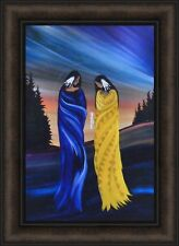 HUMILITY by Betty Albert 16x22 FRAMED PRINT Indian Native American Spirit Beads