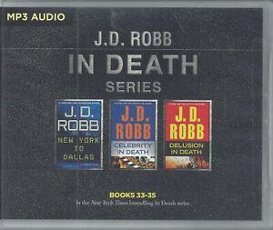 J D Robb In Death Series Books 33-35 Three Unabridged MP3 Audio Books