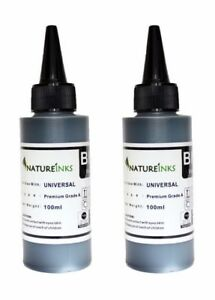 200ml Universal Premium Black Bottles kit to Refill empty printer ink cartridge