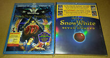 New Disney Snow White & 7 Dwarfs Blu-ray/DVD w/slipcover + Empty Steelbook OOP