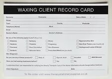 SALON - THERAPIST Waxing Client Record Card (50 pack) A5 Size