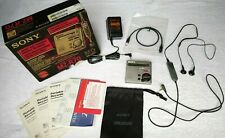 Sony MZ-R70 MiniDisc Recorder Player Mikrofon MD Walkman Silber + Zubehör in OVP