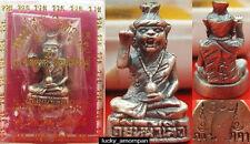 Mini Statue Phra LERSI Head Tiger LP KEE Thai Buddha Amulet lucky Rich NO.2