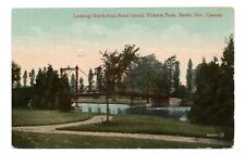 Victoria Park from Rood Island BERLIN Ontario Canada 1912 Valentine Postcard