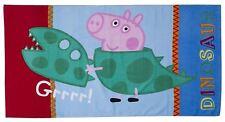 Peppa Pig George Roar Beach Bath Towel GRRR! Dinosaur