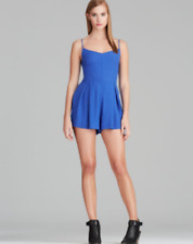 a57bf8b4cb6b MINKPINK Nordstrom Womens Size Small Sleeveless Pleated Cobalt Blue Romper