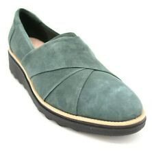 Clark Collection Womens Sharon Form Suede Loafer Emerald US Size 10M New
