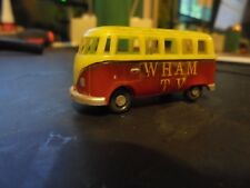 vintage DBGM  germany  VW  deluxe TV  bus  of  W. H. A. M.   1:87 plastic / rare