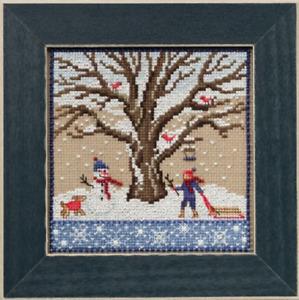 MILL HILL Counted Cross Stitch Beads Kit MIGHTY OAK TREE QUARTET Winter