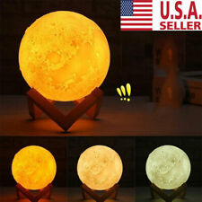 12cm 3D Printing Moon Lamp USB LED Night Lunar Light Moonlight Touch Color Chang