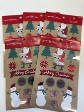 5 packs (300) of xmas foil gift tags presents wrapping swap peel stick