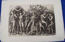 Reichsdruck 138 Andrea Mantegna Das Bacchanal bei der Weinkufe original Berlin