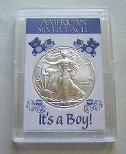 2017 American Eagle Silver Dollar & It's a Boy Case