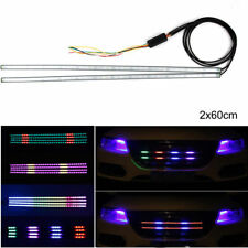 2x RGB LED Strip Tube Light Knight Rider Scanner Neon Grille Under Spoiler Hood