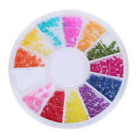 Color Pearl Nail Art Stone Small Wheel Rhinestones Beads P8Z2