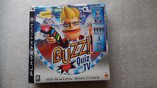 Buzz QUIZ TV EDIZIONE SPECIALE GIOCO PS3, 4 Controller Buzz Wireless NUOVO E SIGILLATO.