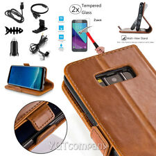 For Samsung GALAXY J7V 2017 Sky Prime Leather Flip Wallet Case Protective Cover