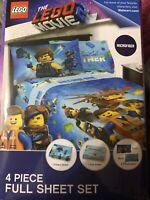 Lego Movie 2 Let/'s Build Together Full Sheet Set Multicolor