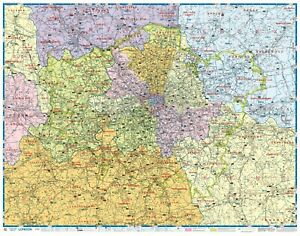 *BRAND NEW AND UPDATED* Greater London Postcode Wall Map - Laminated