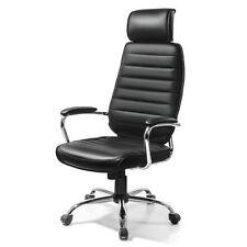 Sedie da ufficio in pelle nera