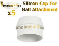 5X Silicon Cap for Ball Attachment Lot For Dental Implant Abutment Internal Hex
