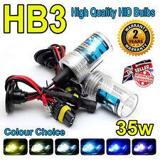 HB3 8000k HID LAMPADINE 35w Replacment AC Xenon base in metallo PER FARI UK venditore 8k