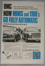 1965 BMC 1100 & Mini Original advert